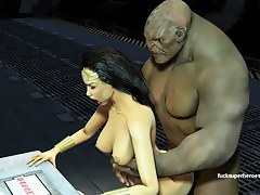 Wonderwoman Fucks Huge Troll Dick