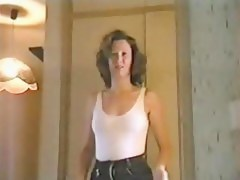 Naught milf blonde bungler strip video
