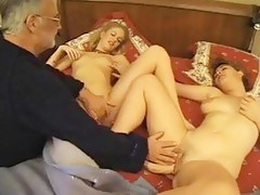 Classic porn clip featuring a sex loving French family