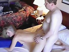 Mature couple happy after anal sex