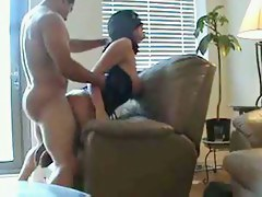 Big  booty whore destroyed  by black dick