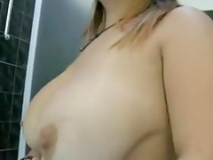 Fat Mature Woman Masturbates With Shower Water Runnel And Gets Orgasm