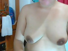 40 year old filipina senior lady lyn volantate shows undressed