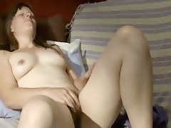 Intense immodest fissure rubbing together with shaking orgasm