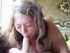 Cute chubby sucks cock and swallows
