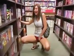 Public Library Flashing Girls