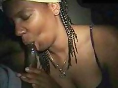 Black Wife Dutifully Swallowing Her Hubbies Cum