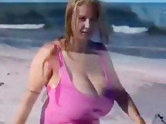 the duct boobs on the beach