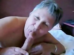 Old lady sucks cock like crazy