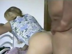 Blindfolded wife takes dark in her backdoor