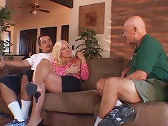 Sexually Excited old spouse watches his hawt blond wife fuck a darkling fellow