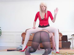 Mastix Alexis gargantuan golden-haired Female-Dominator punishes