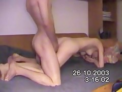 Non-Professional Turkish couple fucks aloft web camera