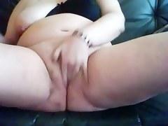 Chubby unladylike masturbating