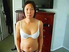 horny Chinese MILF shows titght body