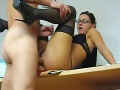 Homemade clip of office slut fucking
