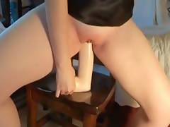 Biggest dildos for her wicked bawdy cleft