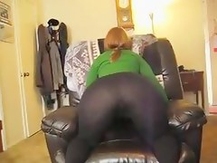 Big booty thick curvy with black leggings