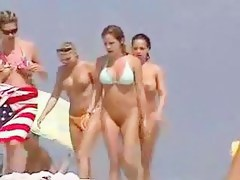 Voyeur video in nature's garb hotties at dramatize expunge beach showing hawt bodies milk cans and cookies