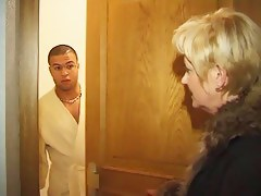 Mature bbw light-complexioned seduces her young French neighbor