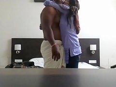 Hawt Indian babe in arms gets with her colleague in hotel