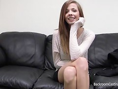 Cute teen gets her massive facial