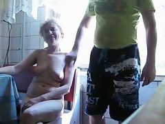 Granny's hand job for a home video