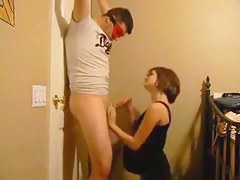 Concupiscent Preggy Wife Engulfing Off Her Blindfolded Spouse