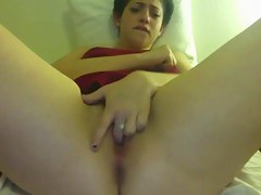 Teen masturbating say no to perishable pussy be proper of cam