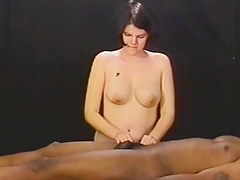 Paulette Gives The brush Dude A Topless Tugjob