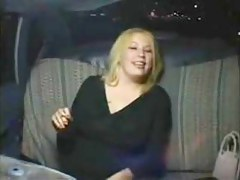 Powered Fat Heavy Troop Girl masturbating in Taxi Cab