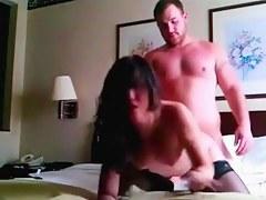Oriental american babe copulates her boyfriend