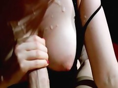 Huge cumshot on my big tits