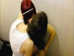 Bathroom couple sex caught