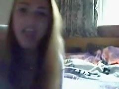 Teen strips & masturbates on webcam