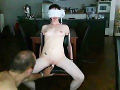 Bad girl gets tied hither and punished