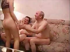 Scrimp shares hot wife with old guy