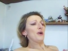 vicious talking french housewife enjoys with respect to dread ass pounded