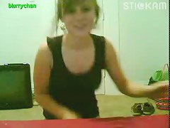 stickam babe flashes and rubs pussy