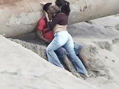 Latino tits caught on put emphasize beach