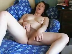 Legal Age Teenager Brunettes Rubs Her Unshaved Cunt