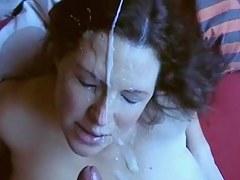 Ariella Alan - Fette Spermaladung ins Gesicht gespritzt