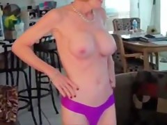 melanie with two young cocks