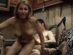 Hawt tattoed pair anal fucking creampie