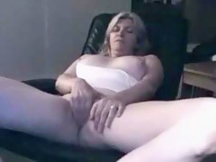 older blondie on webcam