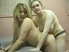 Fat Chubby Lesbians Masturbating, Kissing and Pussy Make believe