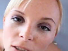 Delicious blonde gets a grand facial