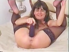 aldonze bitch c eggplant on her pussy