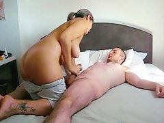 Cutie Rides Schlong And Acquires A Morning Creampie