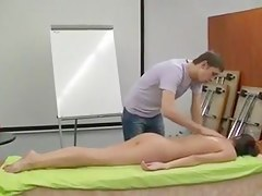 Barren dilettante massage exhibition - captivating starved brunette hair